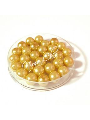 80 pz perle in vetro cerato pvc Champagne 8mm