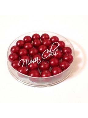 80 pz perle in vetro cerato pvc Rosso porpora 8mm