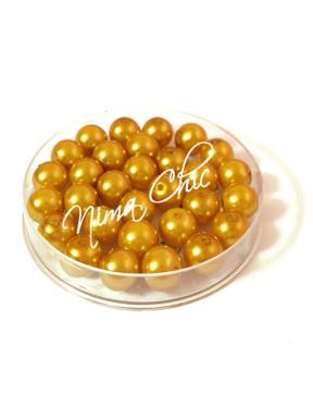 80 pz perle in vetro cerato pvc Oro 8mm