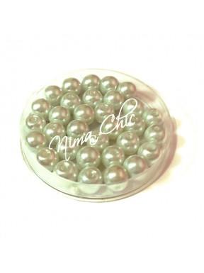 80 pz perle in vetro cerato pvc Bianco 8mm
