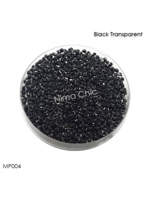 10 gr perline conteria Black Transparent 2mm