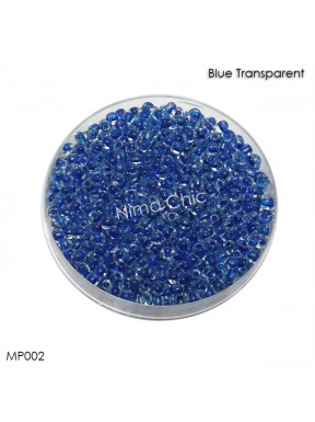10 gr perline conteria Blue Transparent 2mm