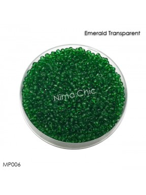 10 gr perline conteria Emerald Transparent 2mm