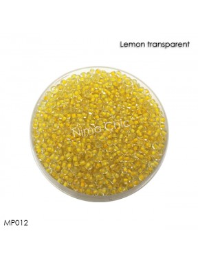 10 gr perline conteria Lemon Transparent 2mm