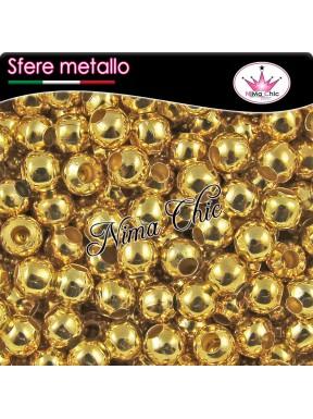 100 Perline distanziatori metallo oro 3mm