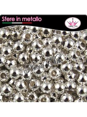 100 Perline distanziatori metallo argento 2,4mm