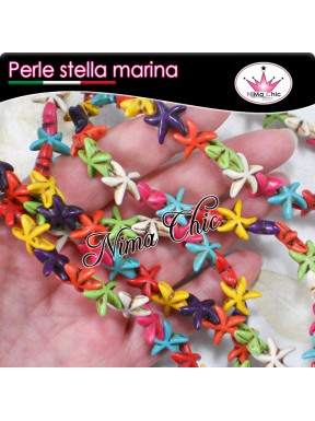 10 PERLE IN HOWLITE star