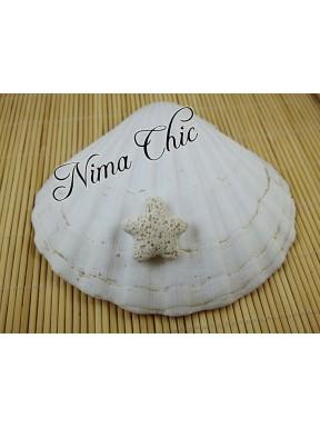 4 pz STELLA MARINA in pietra lavica Bianco