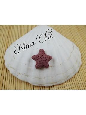 4 pz STELLA MARINA in pietra lavica Rosa antico