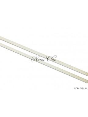 3 MT FETTUCCIA ALCANTARA 3mm bianco