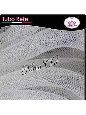 2mt RETE TUBOLARE Nylon 4 o 8mm Bianco