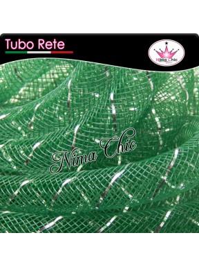 2mt RETE TUBOLARE Nylon 4 o 8mm Verde/argento