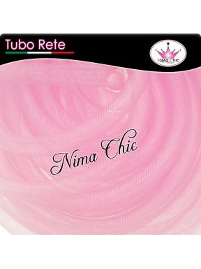2mt RETE TUBOLARE Nylon 4 o 8mm Rosa