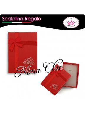 SCATOLINA CONFEZIONE REGALO 7x5 cm ROSSO