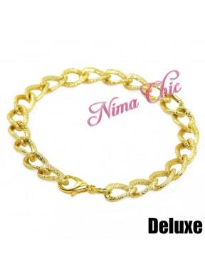 2 pz Base per Bracciale catena diamantata alluminio oro