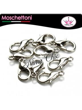 moschettoni 10mm argento