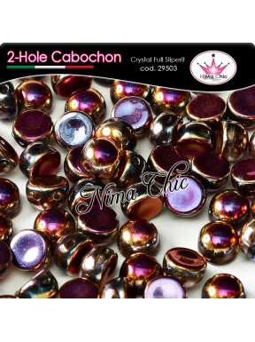 2-hole cabochon crystal full sliperit