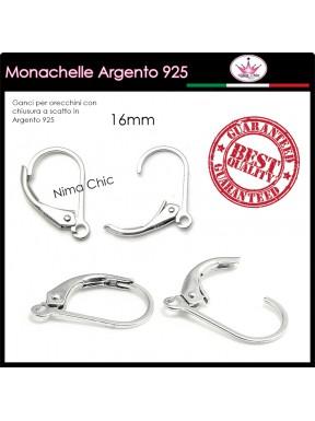 2 MONACHELLE con chiusura in ARGENTO 925