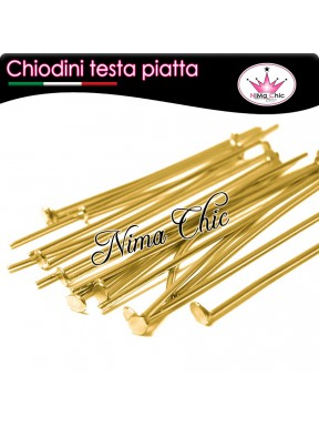 100 CHIODINI T - 7 cm metallo col. oro